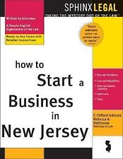 How to Start a Business in New Jersey (Legal Survival Guides)-ExLibrary