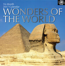 Wonders of the World 2017 Square Wall Calendar