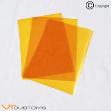 3 X A5 Hojas-Naranja Película Para Luces De Niebla Faro Tinte Humo Coche Envoltura de Vinilo