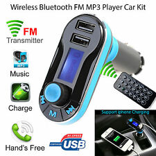 Bluetooth Inalámbrico Coche Transmisor de FM MP3 Radio Reproductor Kit Cargador