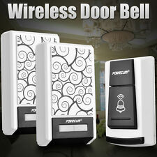 Waterproof Wireless Doorbell Door bell 36 Chimes Songs Remote Control 2 Receiver