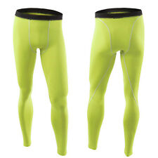 Men Boys Thermal Compression Wear Under Base Layer GYM Long Pants Tight Leggings