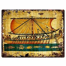 PP0798 Egyptian Painting Chic Plate Sign Home Store Shop Restaurant Cafe Decor