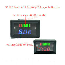 New DC 48V Acid Lead Battery LED Indicator Capacity Voltage Tester Voltmeter