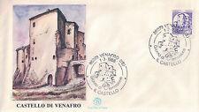 FDC ITALIA PRIMO GIORNO DI EMISSIONE 1988 VENAFRO (IS) IL CASTELLO  7-50