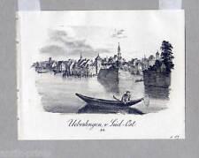 Überlingen - Bodensee - Lithographie von Pecht 1832 Sehr selten!