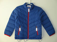 HANNA ANDERSSON Warm Up In Down Jacket Coat Brilliant Blue 130 8 NWT