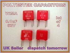 WIMA Condensatori in poliestere 0.1 UF 63v *** LOTTO DI 4 ***
