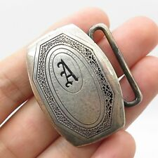Vtg Higkok 925 Sterling Silver Letter A Men's Belt Buckle