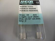 NOS ANCOR MARINE FUSES 40 AMPS  2 PER PACKAGE  603400