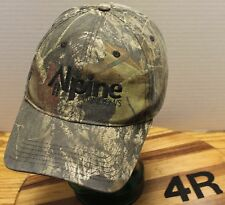 NICE ALPINE WINDOWS CAMO HAT ADJUSTABLE IN VERY GOOD CONDITION
