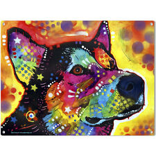 Siberian Husky Dog Zeike Dean Russo Pop Art Sign Pet Steel Wall Decor 16 x 12