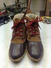 SOREL VINTAGE BROWN LEATHER WINTER SNOW RAIN DUCK BOOTS 7 W
