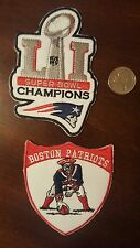 2 - New England Boston Patriots Embroidered   Patch lot (2)  patches 4x3, 3x3