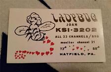 """HAM CB RADIO QSL Trading Card """"LADYBUG - JOAN - HATFIELD, PA - KSI 3202"""""""