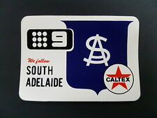 1970 SOUTH ADELAIDE FOOTBALL CLUB CALTEX & CHANNEL NINE ISSUE DECAL . SANFL