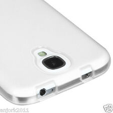 Samsung Galaxy S4 i9500 Soft TPU Gel Skin Cover Candy Case Frosted Clear