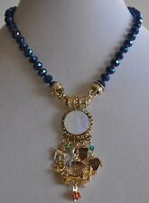 KIRKS FOLLY  SEAVIEW MOON RAINBOW BRIDGE NECKLACE MAGNETIC  GOLD TONE *LAST ONE*