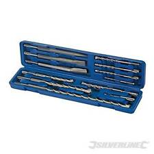 OFFER! Silverline SDS Plus Masonry Drill & Steel Set 12pce In sturdy case