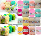 Wholesale Lot Soft Natural Bamboo Cotton Knitting Yarn Fingering Woolcaft New