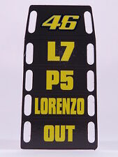 "MINICHAMPS V.ROSSI PITBOARDS ""LORENZO OUT"" GP MISANO 2015 SCALA 1/12 NEW"