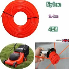 Roll 2.4mm x45m Trimmer Line Rope String Flexible Nylon For Petrol Strimmers