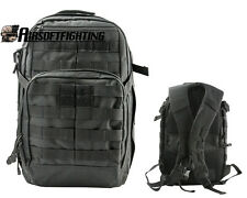 Molle Tactical 40L Military Assault Backpack Outdoor Camping Hiking Bag Black