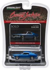 `69 Ford Mustang Boss 302  Blue 1969 **Greenlight Barrett Jackson 1:64 NEU+OVP