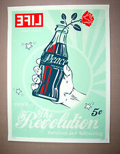 LifeVersa The Revolution Pop Print coca cola bottle Peace Rose Life Mag Art