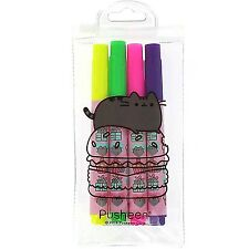 Pusheen the Cat Highlighter Pens Set of 4 School College Cute Kawaii Gift