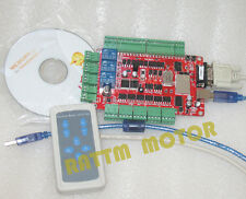 4 Axis USB CNC Breakout Board Interface Card Controller+Remote Handle CNC Router