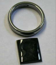 ITALIAN BLACK ONYX INTAGLIO FOR SIGNET RING HAND CARVED CENTURION 12X14MM 4.5CT