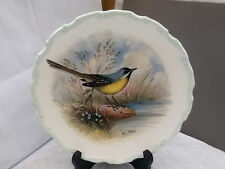 ROYAL ALBERT PLATE FROM WOODLAND BIRDS COLLECTION THIS IS GREY WAGTAIL