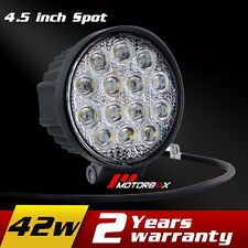4.5Inch 42W Cree LED Work Light Spot Offroad Driving Fog Light Motorcycle Truck