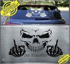 Skull Fuck You Aufkleber Sticker Totenkopf 59x35cm DEIN WUNSCHTEXT SFW-001