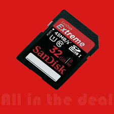 SanDisk 32GB Extreme SDHC Class 10 45MB/s 300x UHS-I Flash Memory Card Camera SD