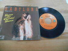 "7"" Pop Babylone - Dance The Oriental Dance (2 Song) JUPITER / Gabriel Yared"