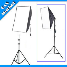 Lighting Kit 50x70cm Softbox Umbrella Reflective E27 Socket+195cm Light Stand