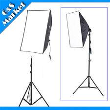 Lighting Kit 50x70cm Softbox Umbrella Reflective E27 Socket+195cm Light Stand