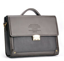 Mens business Leather Laptop Briefcase Handbag Messenger Shoulder Password bag