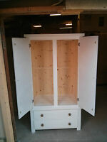 SPECIAL OFFER GENTS DOUBLE 2 DRAWER WARDROBE WHITE ASSEMBLED NO FLAT PACKS !!!!