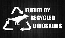 Sticker decal tuning JDM drift car bumper fueled recycled dinosaurs white bike