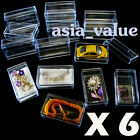 6 X Clear Case Box Display Dollhouse Miniature jewelry Gemstone Necklace Ring