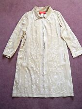 Beige silk tunic kaftan or summer coat by Christian Lacroix VGC UK 10