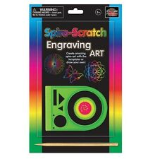 Spiro Scratch Engraving Art Spiro-Art Scratch Paper Ages 5+ Craft Activity