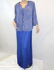 NEW NWT Alex Evenings Plus Size MOTB Sparkle Gown 2 Piece Cardigan Dress Set 16W