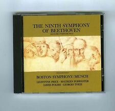 CD BEETHOVEN NINTH SYMPHONY C.MUNCH LEONORE OUVERTURE L.PRICE G.TOZZI (JAPAN)