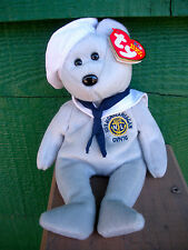 """RONNIE"" Ty Beanie Baby -USS Ronald Reagan Insignia On Chest - 2003, W/Tags"