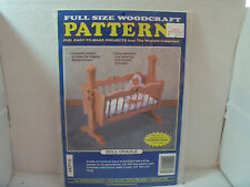 New Full Size Woodcraft Pattern (The Winfield Collection) Doll Cradle