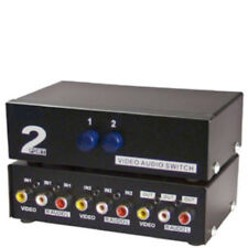 Lot5 2way/Port manual switch box,3/Triple RCA A/V,Audio/Video/Stereo,DVD/TV/VCR